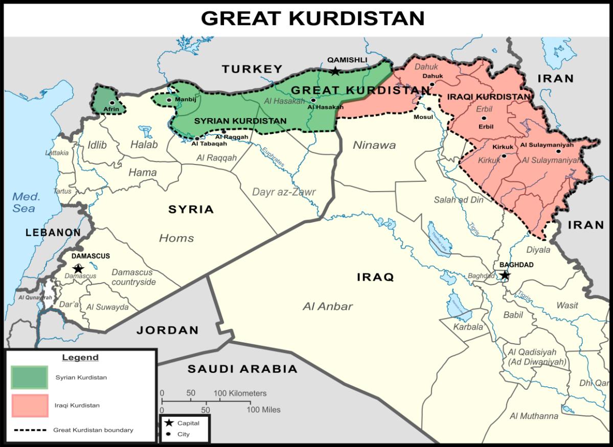 El Gran Kurdistán y la balcanización de Siria